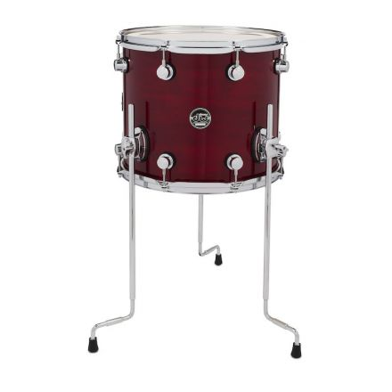 DW Performance Series Lacquer Floor Tom - 14x12 - Cherry Stain