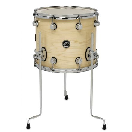 DW Performance Series Lacquer Floor Tom - 14x12 - Natural Lacquer
