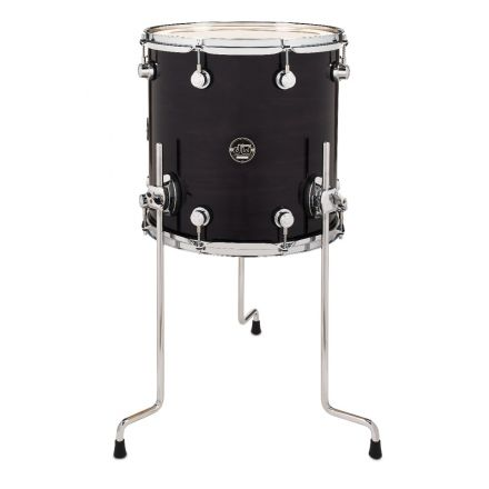 DW Performance Series Lacquer Floor Tom Ebony Stain - 14x14