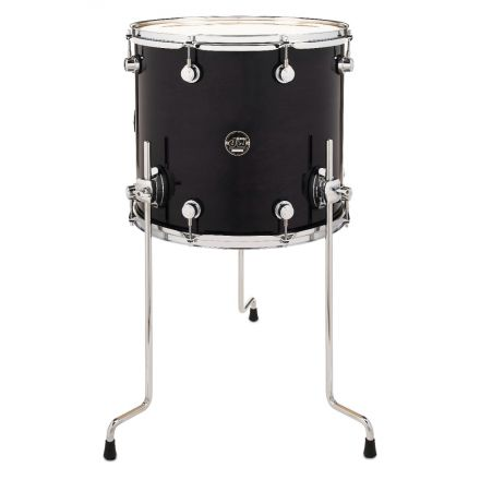 DW Performance Series Lacquer Floor Tom Ebony Stain - 16x14