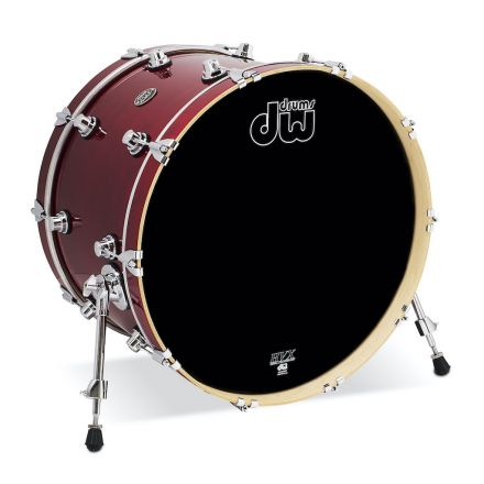DW Performance Series Lacquer Bass Drum - 22x14 - Cherry Stain