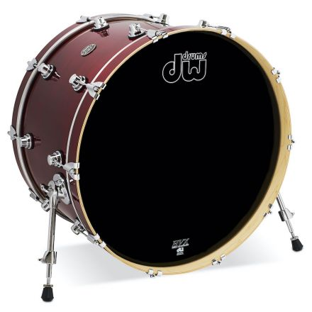 DW Performance Series Lacquer Bass Drum - 24x14 - Cherry Stain