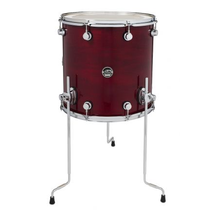 DW Performance Series Lacquer Floor Tom - 16x16 - Cherry Stain