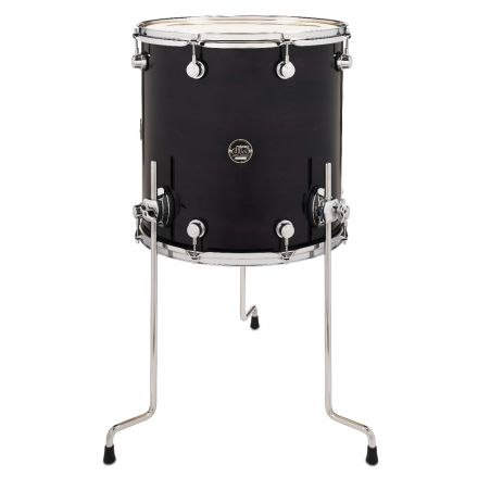 DW Performance Series Lacquer Floor Tom Ebony Stain - 16x16