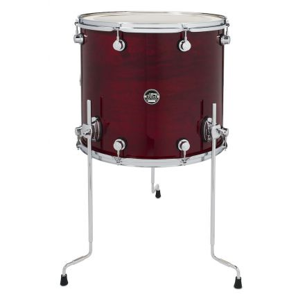 DW Performance Series Lacquer Floor Tom - 18x16 - Cherry Stain