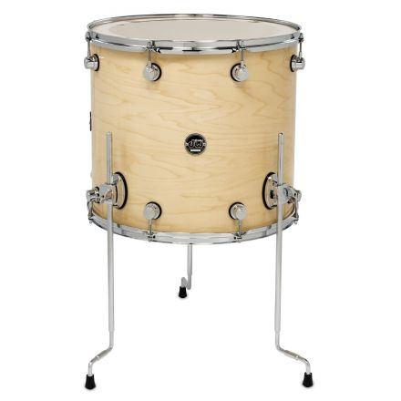 DW Performance Series Lacquer Floor Tom Natural Lacquer - 18x16