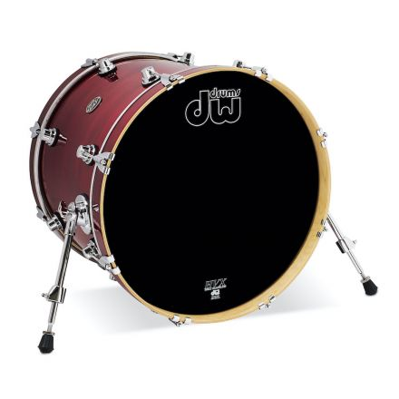 DW Performance Series Lacquer Bass Drum - 20x16 - Cherry Stain