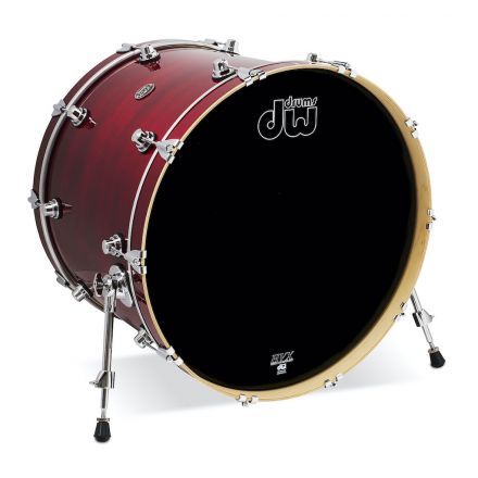 DW Performance Series Lacquer Bass Drum - 24x18 - Cherry Stain