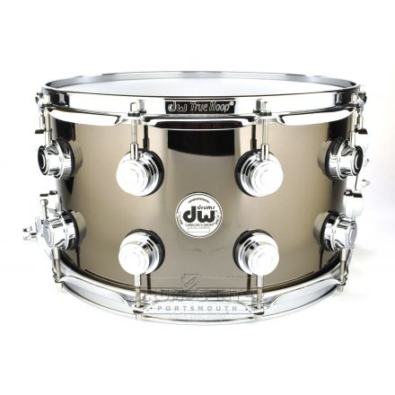 DW Collectors Black Nickel Over Brass Snare Drum 14x8 Chrome Hardware