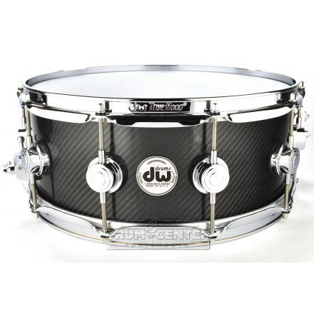 DW Collectors Carbon Fiber Snare Drum 14x5.5 Chrome Hardware