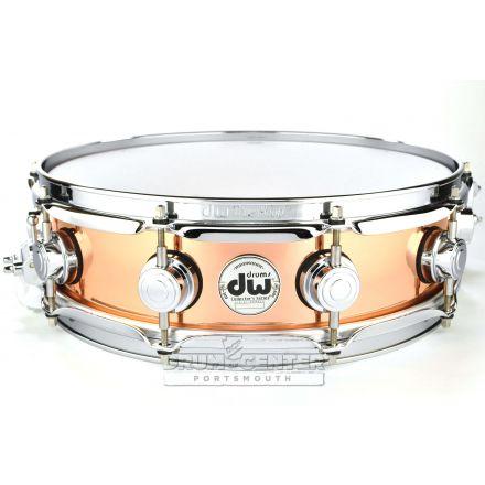 DW Collectors Copper Snare Drum 14x4 Chrome Hardware