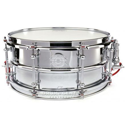 Dunnett Classic 2N Chrome Over Brass Snare Drum 14x6.5