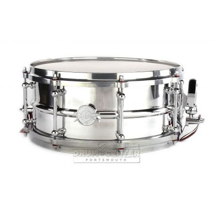 Dunnett Classic 2N Modeling Aluminum Snare Drum w/Polished Die Cast Hoops - 14x6.5