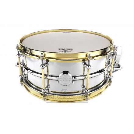 Dunnett Classic Model 2N Snare Drum 14x6.5 Chrome Over Brass with Brass Lugs