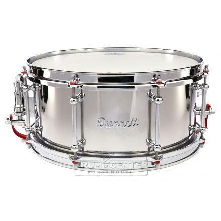 Dunnett Classic Stainless Steel Snare Drum 14x6.5 Polished