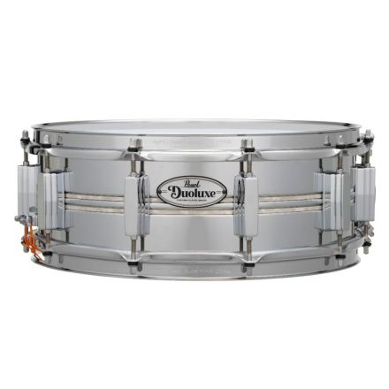Pearl Duoluxe Inlaid Chrome over Brass Snare Drum - 14x5