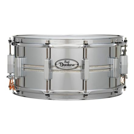Pearl Duoluxe Inlaid Chrome over Brass Snare Drum - 14x6.5