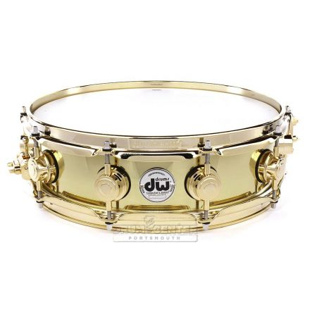 DW Collectors Bell Brass Snare Drum 14x4 Gold Hw