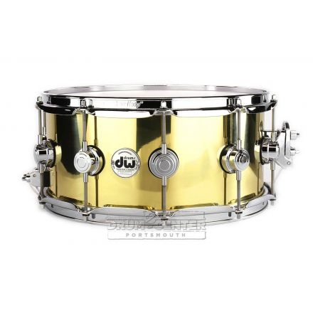 DW Collectors Bell Brass Snare Drum 14x6.5 Chrome Hw - B Stock!