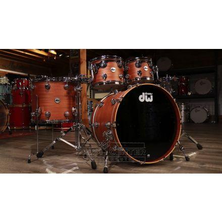 DW Collectors Mahogany Spruce 5pc Drum Set - Natural Hard Satin