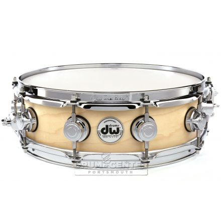 DW Collectors Maple Snare Drum 14x4 Satin Natural
