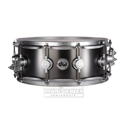 DW Collectors Series Satin Black Brass Snare Drum - 14x5.5