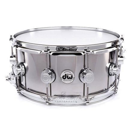 DW Collectors Stainless Steel Snare Drum 14x6.5 Chrome Hw