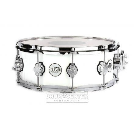 DW Design 14x5.5 Snare Drum - Gloss White