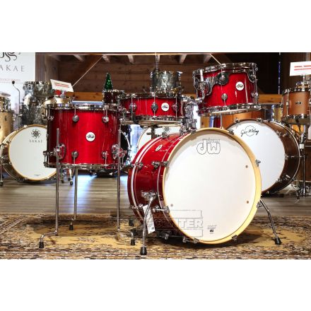 DW Design Frequent Flyer 4pc Drum Set Cherry Stain Lacquer