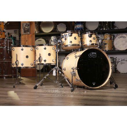 DW Performance 5pc Lacquer 2 Up/2 Down Drum Set - Natural