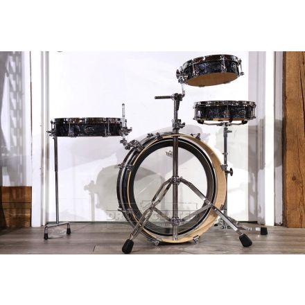 DW Performance 4pc Low Pro Drum Set Black Diamond