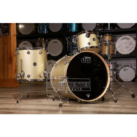 DW Performance 3pc Drum Set 20/12/14 - Hard Satin Gold Mist