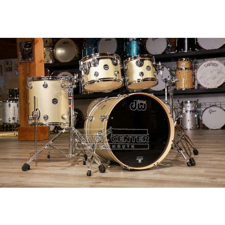 DW Performance 4pc Lacquer Drum Set - 20/10/12/14 - Hard Satin Gold Mist