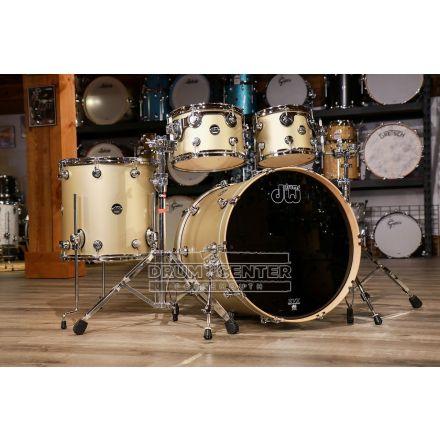 DW Performance 4pc Drum Set 22/10/12/16 - Hard Satin Gold Mist