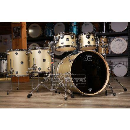 DW Performance 5pc Drum Set 22/10/12/14/16 - Hard Satin Gold Mist
