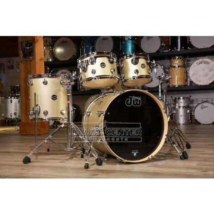 DW Performance 4pc Lacquer Drum Set - 20/10/12/14/14 - Hard Satin Gold Mist