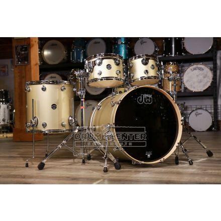 DW Performance 5pc Drum Set 22/10/12/16/14 - Hard Satin Gold Mist