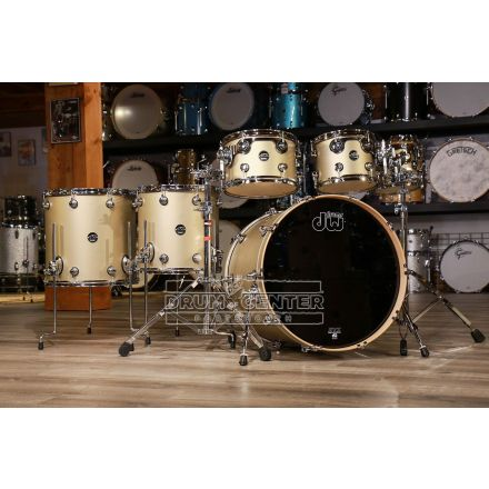 DW Performance 6pc Lacquer Drum Set - 22/8/10/12/14/16 - Hard Satin Gold Mist