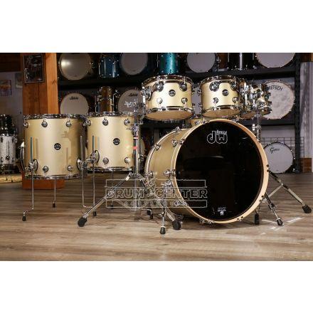 DW Performance 7pc Lacquer Drum Set - 22/8/10/12/14/16/14 - Hard Satin Gold Mist