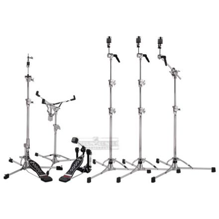 DW 6000 Hardware Pack with 3 Cymbal Stands & Strap Drive Pedal