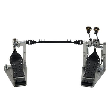 DW Machined Chain Drive Double Bass Drum Pedal With Bag - Black Finish
