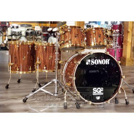Sonor SQ2 6pc Drum Set Medium Maple - Rosewood Veneer High Gloss
