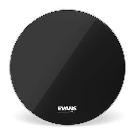 Evans EQ3 Resonant Black Bass Drum Head, No Port, 18 Inch