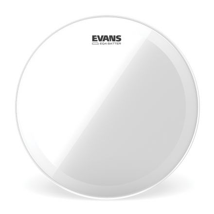 Evans EQ4 Clear Bass Drum Head, 20 Inch