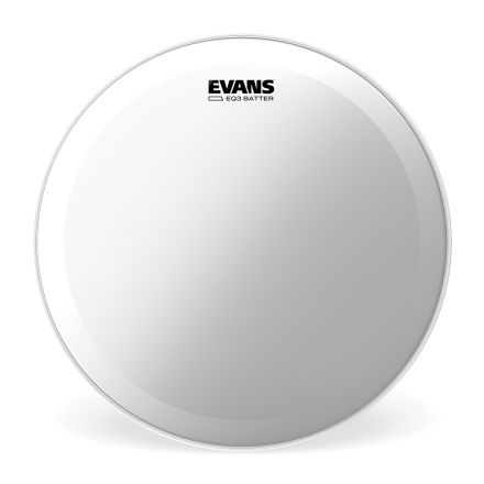 Evans EQ3 Clear Bass Drum Head, 22 Inch