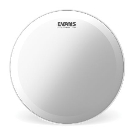 Evans EQ3 Frosted Bass Drum Head, 22 Inch