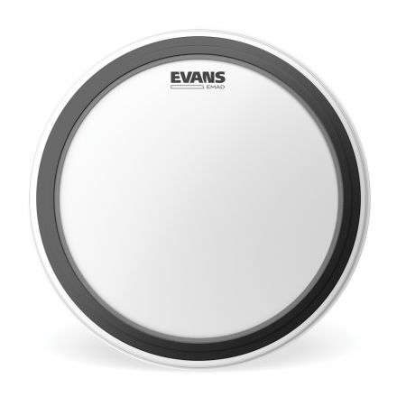 Evans EMAD Coated White Bass Drum Head, 24 Inch