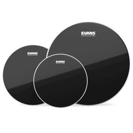 Evans ETP-CHR-F Black Chrome 10/12/14 Fusion Tom Head Pack