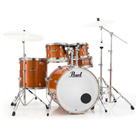 Pearl Export Lacquer Series Drum Set with Hardware - Honey Amber