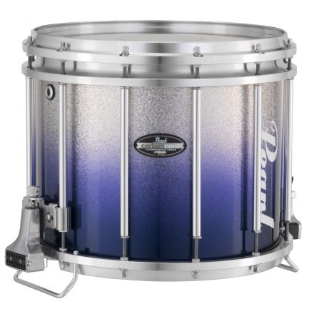 Pearl Marching Percussion: 13X11 Maple Carboncore Ffx Marching Snare Drum, W/R Ring #961 - Blue Silver Fade (Bottom)